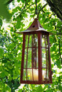 Picturesque candle lantern Royalty Free Stock Photography