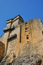 Picturesque castle of castelnaud in dordogne france the Royalty Free Stock Image