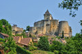Picturesque castle of castelnaud in dordogne france the Stock Image