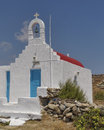 Picturesque church mikonos island greece Stock Image
