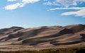Picturesque clouds over Great Sand Dunes National Park Royalty Free Stock Photo
