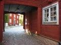 Picturesque corner in Gamla Linkoping. Linkoping. Sweden Royalty Free Stock Photo