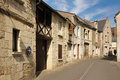 Picturesque corner in the old town chinon france typical houses Stock Images