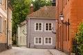 Picturesque corner. Vadstena. Sweden Royalty Free Stock Photo