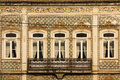Picturesque dilapidated balcony coimbra portugal and building at the waterfront Royalty Free Stock Photography