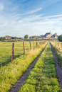 Picturesque Dutch rural landscape in summertime Royalty Free Stock Photo