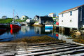 Picturesque Fishing Village Stock Photography