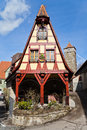 Picturesque framework house rothenburg ob der tauber germany Royalty Free Stock Image