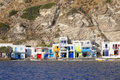 Picturesque greek fishing village waterfront houses in klima a quaint on milos island in greece Stock Photo