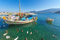 Picturesque harbor of Leonidio, Greece Royalty Free Stock Photo