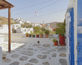 Picturesque house yard in a mediterranean island Stock Photography