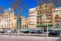 Picturesque houses La Barceloneta. Barcelona