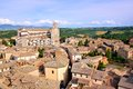 Picturesque italian hill town view over the old of orvieto italy with duomo Royalty Free Stock Images