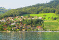 A picturesque landscape of Untersee lake Royalty Free Stock Photo