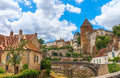 Picturesque medieval town of Semur en Auxois
