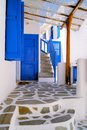 Picturesque mykonos corner in the village of greece Royalty Free Stock Photography