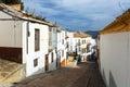 Picturesque narrow street in european city. Olvera Royalty Free Stock Photo