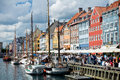Picturesque Nyhavn in Copenhagen Stock Photos