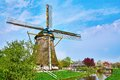 Picturesque old wind mill Royalty Free Stock Photo