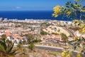 Picturesque outstanding landscape of beautiful resort playa de las americas on tenerife spain canary islands Stock Image