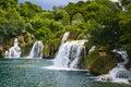 Picturesque plitvice lakes croatian waterfalls unesco world heritage Stock Image