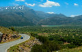 Picturesque road from Lasithi Plateau Royalty Free Stock Photography