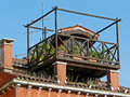 Picturesque roof garden campo santa margherita venice Royalty Free Stock Photography