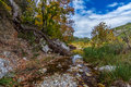 Clear Waters in a Gravely Stream Bed. Royalty Free Stock Photo