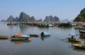 Picturesque sea landscape. Bai tu Long Bay Royalty Free Stock Photo