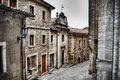 Picturesque street in san marino in hdr tone mapping effect Stock Photography