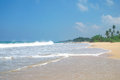 Picturesque tropical beach sri lanka Stock Images