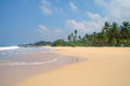 Picturesque tropical beach sri lanka Stock Image
