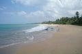 Picturesque tropical beach sri lanka Stock Photo