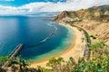 Picturesque view of Playa de las Teresitas beach, Tenerife Royalty Free Stock Photo