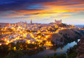 Picturesque view of toledo in morning spain Royalty Free Stock Images