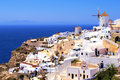 Picturesque view village oia santorini greece Stock Photography