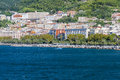 Picturesque views of the marina from the sea in Salerno Royalty Free Stock Photo