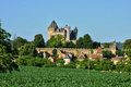 Picturesque village of montfort france the castle Royalty Free Stock Photo