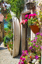 Picturesques street on isola dei pescatori colourful in the small village the one of the boromean isles in lago maggiore italy Stock Images