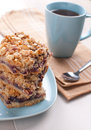 Pie bars with jam and nuts Royalty Free Stock Photos