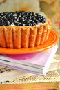 Pie Berry basket Royalty Free Stock Photo