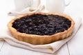Pie with blueberry jam Royalty Free Stock Photo