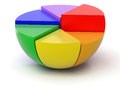 Pie chart in d image with clipping path Stock Image