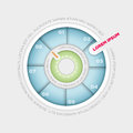 Pie chart infographic vector wheel design template Royalty Free Stock Photos