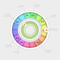 Pie chart infographic vector wheel design template Stock Image
