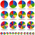 Pie Chart Target Icon Set Royalty Free Stock Images