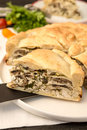 Pie with chicken and mushroom Royalty Free Stock Photo