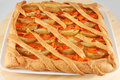 Pie crostata tart italian with apples and pumpkin homemade of shortcake dough Stock Images