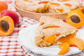 Pie with fresh apricots