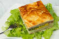 Pie with ham ans cheese Royalty Free Stock Photos